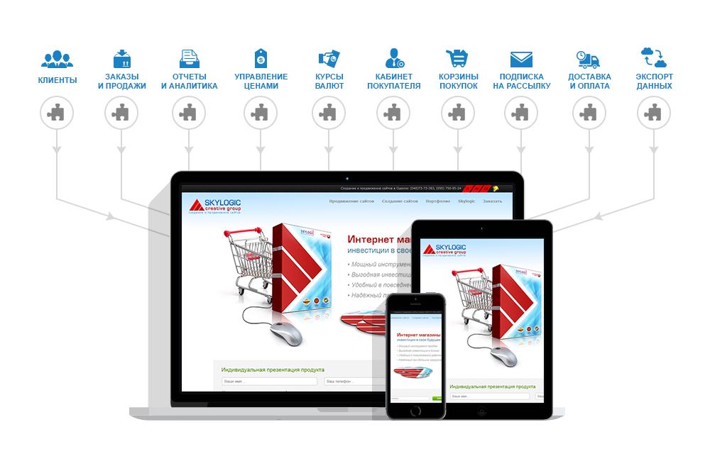 Создание интернет магазина под ключ от Skylogic